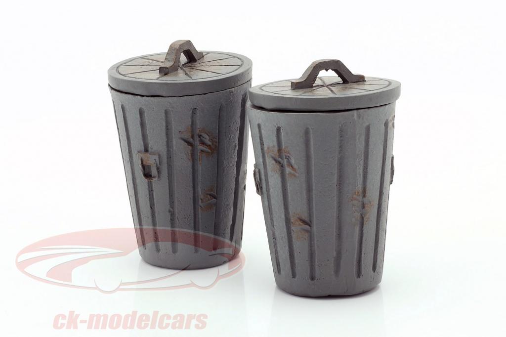 american-diorama-1-18-set-met-2-vuilnisbakken-grijs-ad23978/