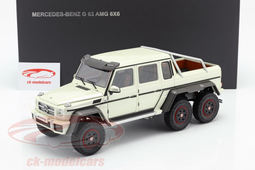Autoart 1 18 Mercedes Benz G63 Amg 6x6 Year 2013 Designo Diamond White 76307 Model Car 76307 674110763072