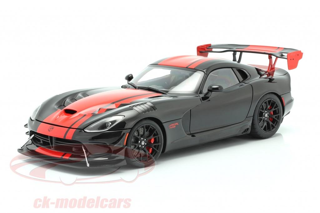 autoart-1-18-dodge-viper-acr-bouwjaar-2017-zwart-rood-71732/