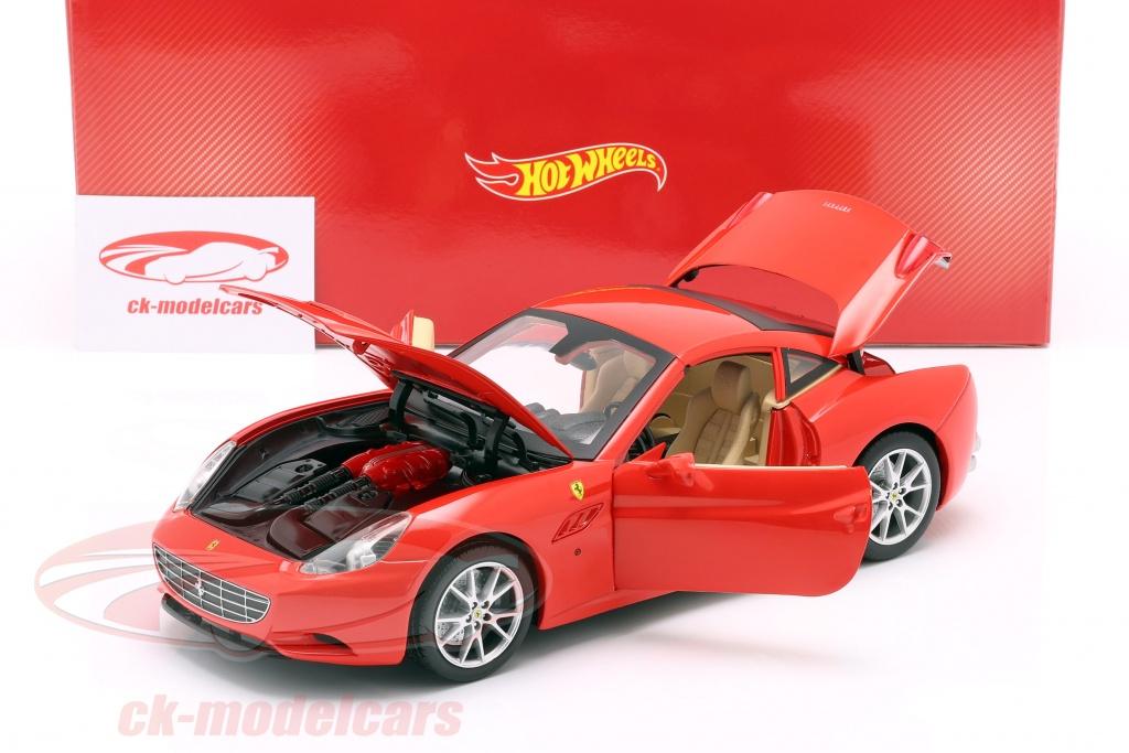 1:18 Hot Wheels Ferrari California convertible with Removable hardtop