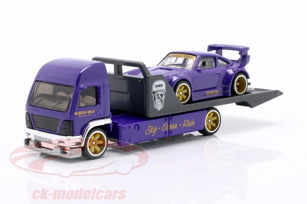 hotwheels-1-64-set-team-transport-porsche-930-rwb-aero-lift-gjt37-no17-flf56/