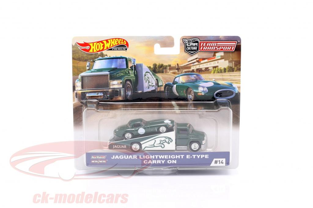 hotwheels-1-64-set-team-transport-jaguar-lightweight-e-type-carry-on-fyt13-no14-flf56/
