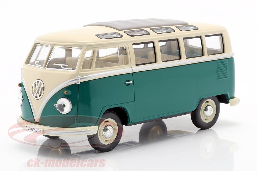 kinsmart-1-24-volkswagen-vw-samba-bus-baujahr-1962-gruen-weiss-7005wgn/