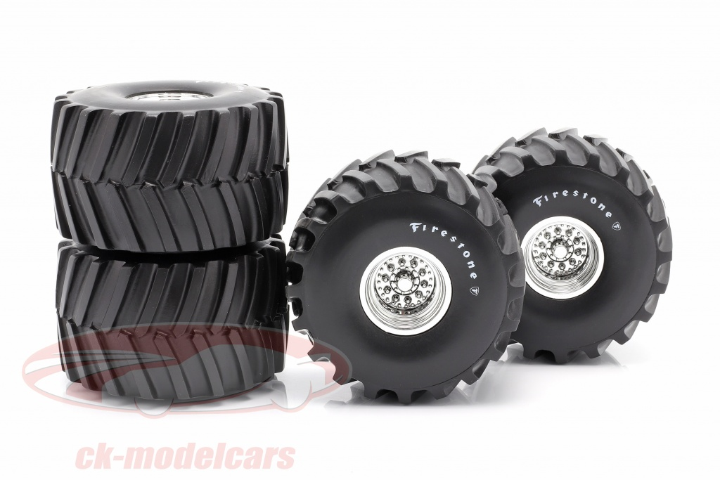 greenlight-1-18-monster-truck-66-inch-pneumatico-cerchioni-set-firestone-13558/