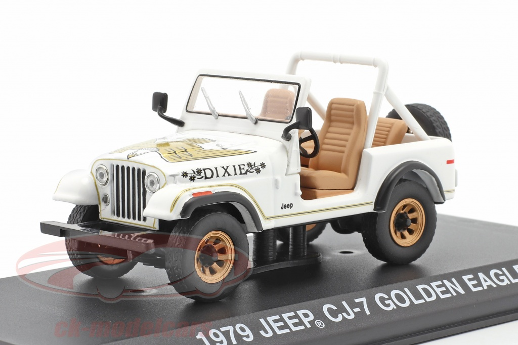 greenlight-1-43-jeep-cj-7-golden-eagle-annee-de-construction-1979-blanc-or-86572/