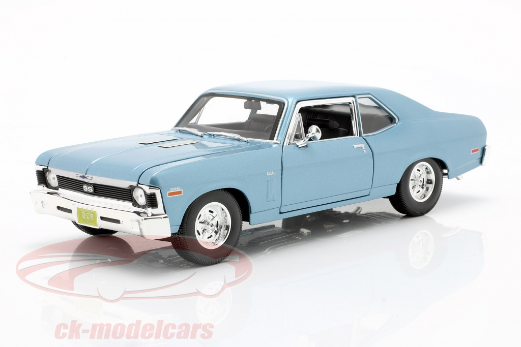 maisto-1-18-chevrolet-nova-ss-coupe-annee-de-construction-1970-lumiere-bleu-metallique-31132/