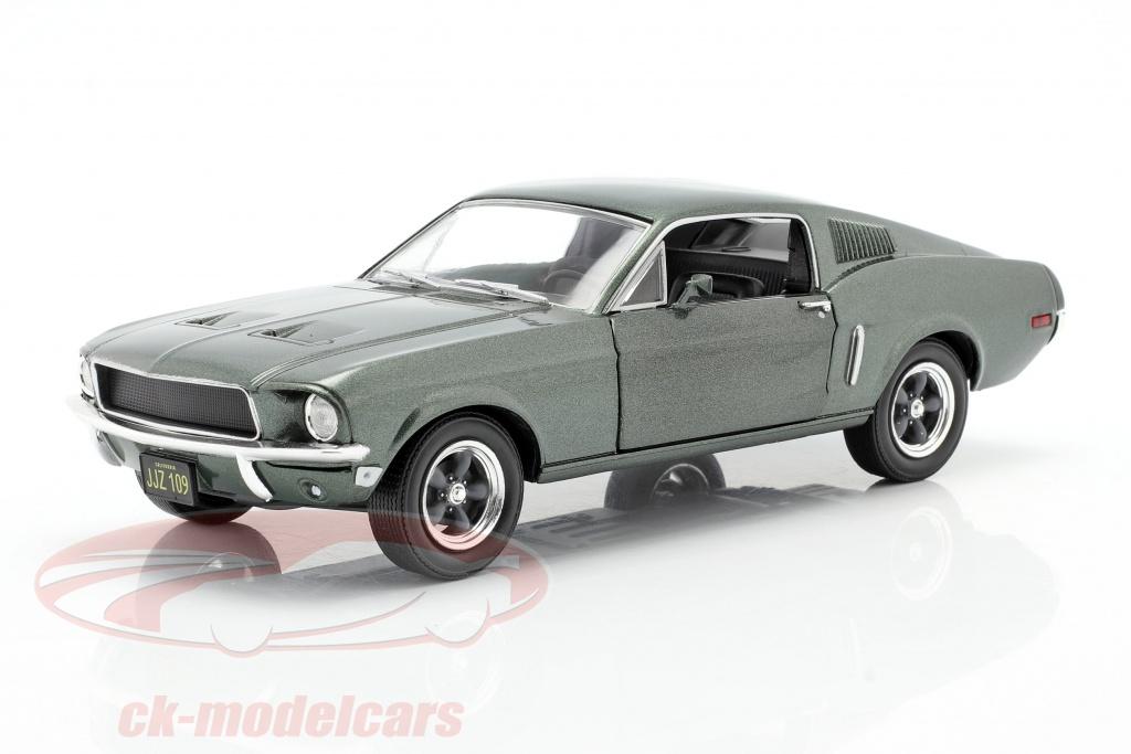 greenlight-1-24-ford-mustang-gt-ano-de-construccion-1968-pelcula-bullitt-1968-verde-metalico-84041/