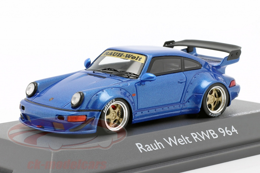 schuco-1-43-porsche-911-964-rwb-rauh-welt-bleu-metallique-450911400/