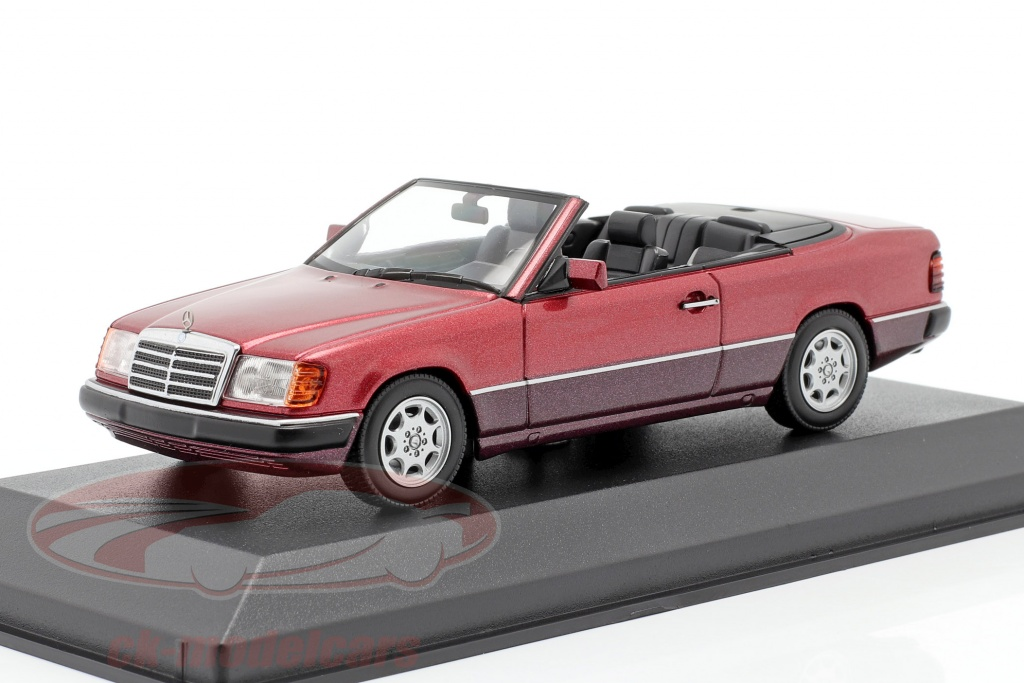 minichamps-1-43-mercedes-benz-300-ce-24-cabriolet-a124-1991-dunkelrot-metallic-940037030/