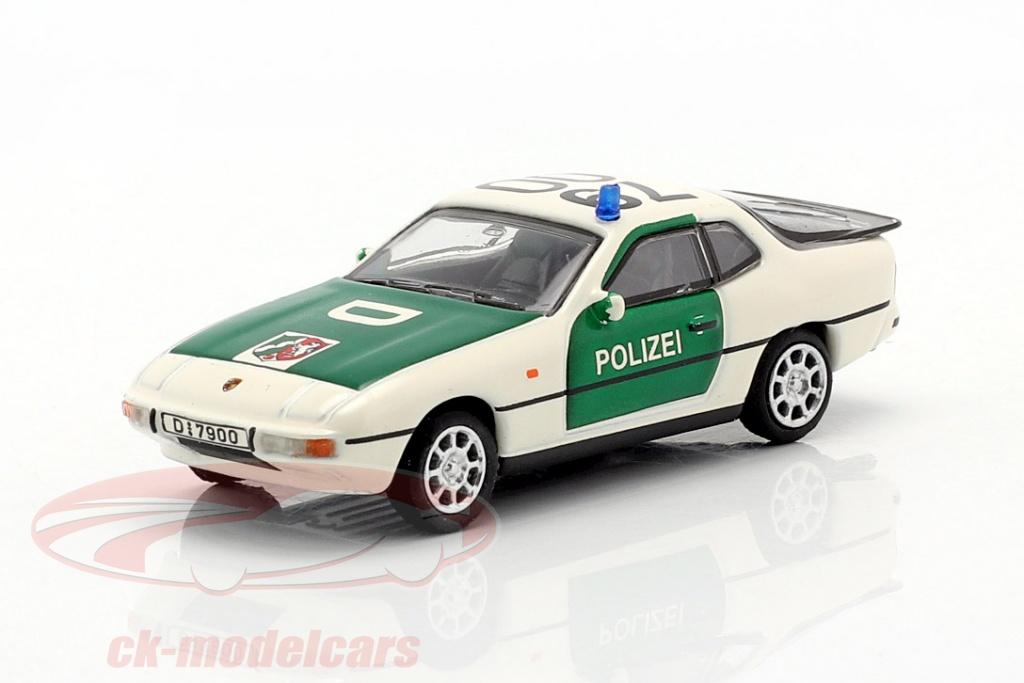 schuco-1-87-porsche-924-polcia-verde-branco-452650000/