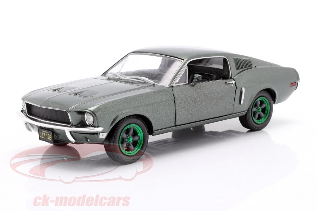 greenlight-1-24-ford-mustang-gt-annee-de-construction-1968-film-bullitt-1968-vert-jantes-84041-gruene-version/