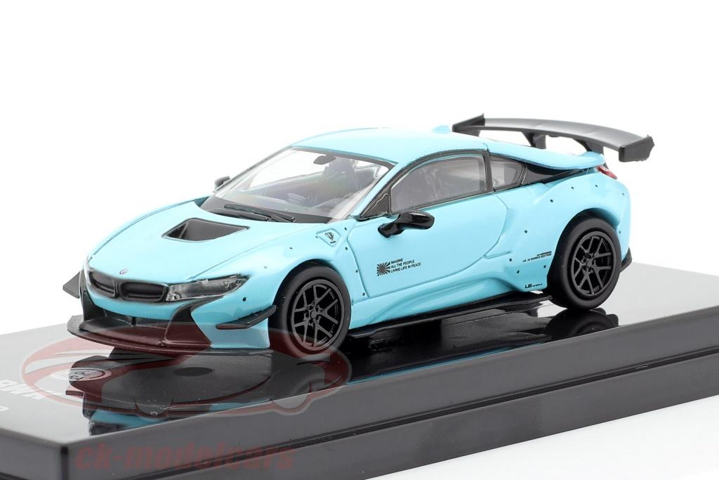 jadi-modelcraft-1-64-liberty-walk-bmw-i8-lhd-year-2018-peppermint-green-light-blue-jaditoys-pa-55141/