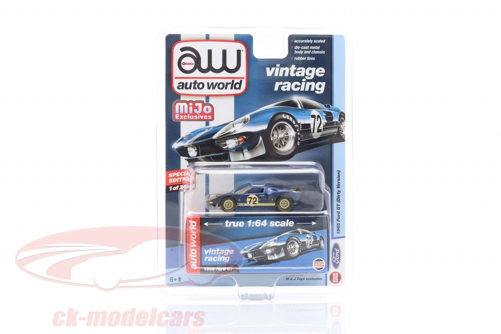 autoworld-1-64-ford-gt-dirty-version-no72-ano-de-construcao-1965-azul-cp7651/