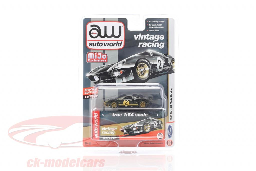autoworld-1-64-ford-gt-dirty-version-no2-ano-de-construccion-1965-negro-cp7652/