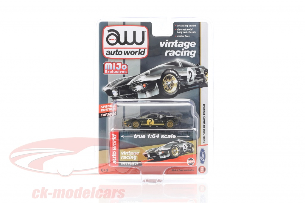 autoworld-1-64-ford-gt-dirty-version-no2-construction-year-1965-black-cp7652/