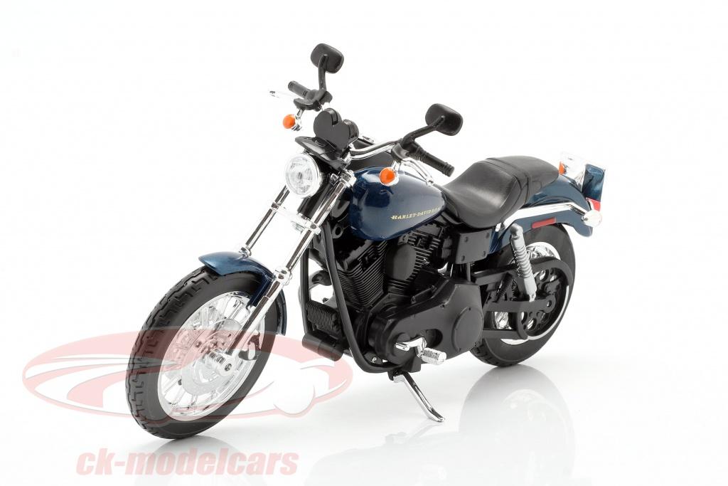 maisto-1-12-harley-davidson-dyna-super-glide-sport-ano-de-construcao-2004-azul-escuro-preto-32321/