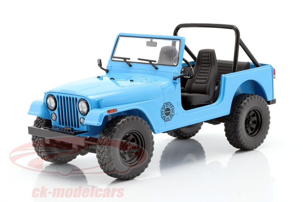 greenlight-1-18-jeep-cj-7-dharma-1977-tv-series-lost-2004-2010-blue-19064/