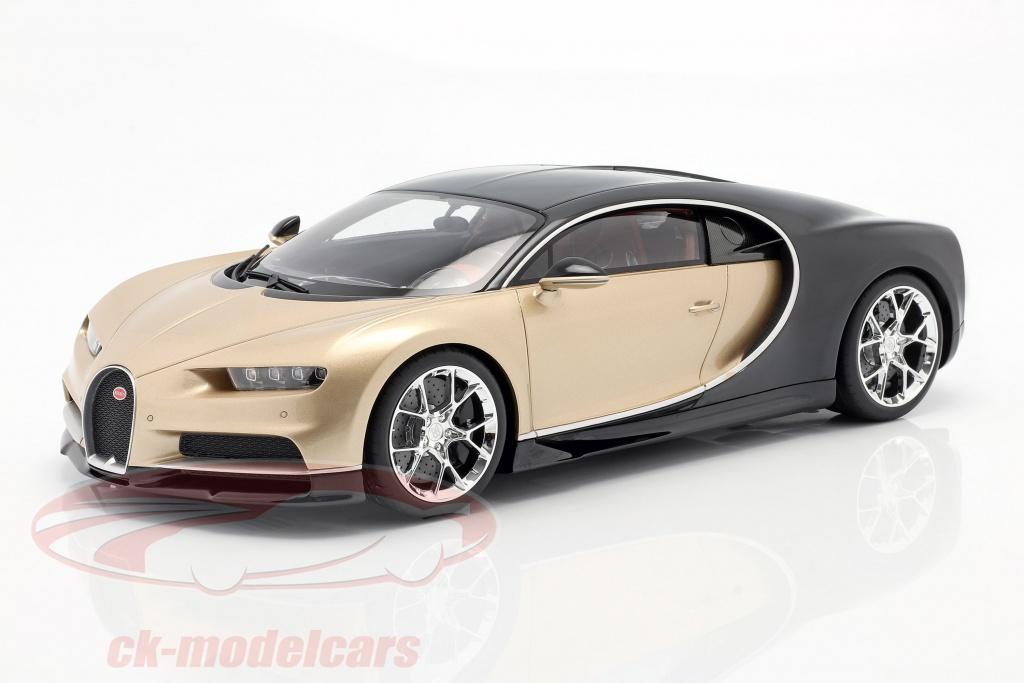 kyosho-1-12-bugatti-chiron-year-2016-gold-black-ksr8664gd/