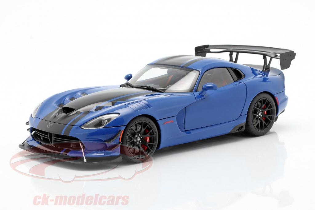 autoart-1-18-dodge-viper-acr-bouwjaar-2017-competition-blauw-zwart-71734/