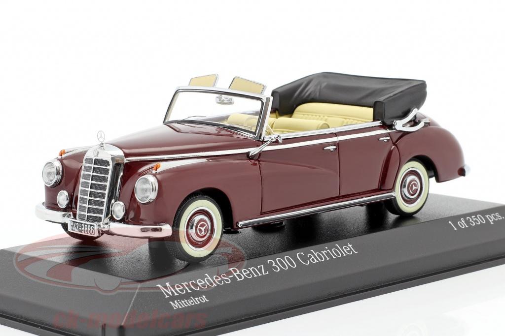minichamps-1-43-mercedes-benz-300-cabriolet-w186-ano-1952-media-roja-437032131/