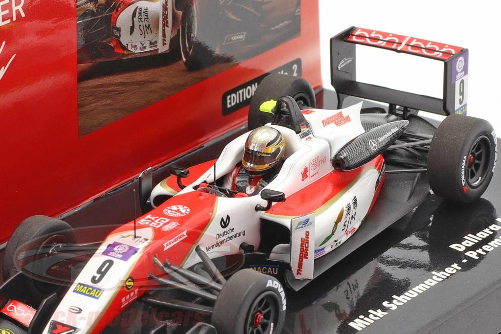 Dallara Mercedes F317 Mick Schumacher Formel 3 Macau 2018 1:43 Minichamps NEU
