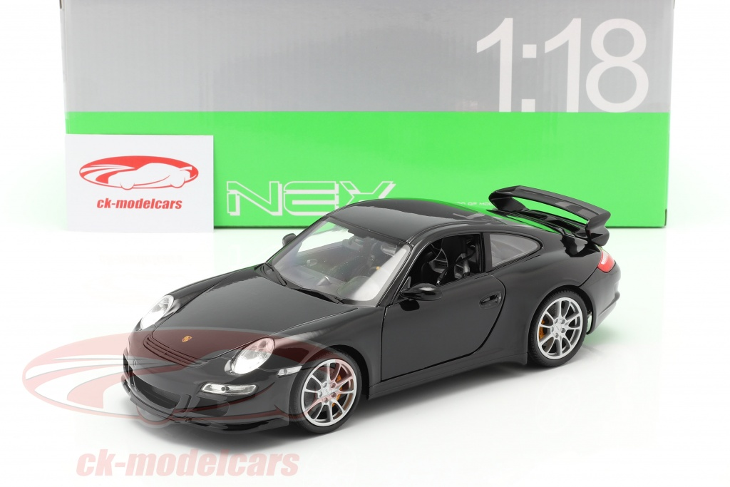 Welly 1 18 Porsche 911 997 Gt3 Year 2008 Black 18024bk Model Car 18024bk 4891761180249