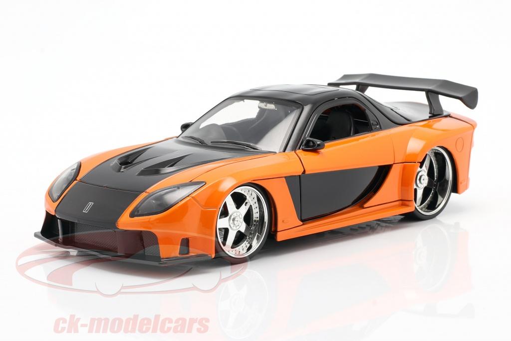 jadatoys-1-24-hans-mazda-rx-7-fast-furious-tokyo-drift-2006-orange-black-253203058/