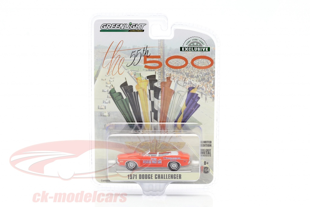 greenlight-1-64-dodge-challenger-convertible-pace-car-55e-indy-500-1971-orange-30144/