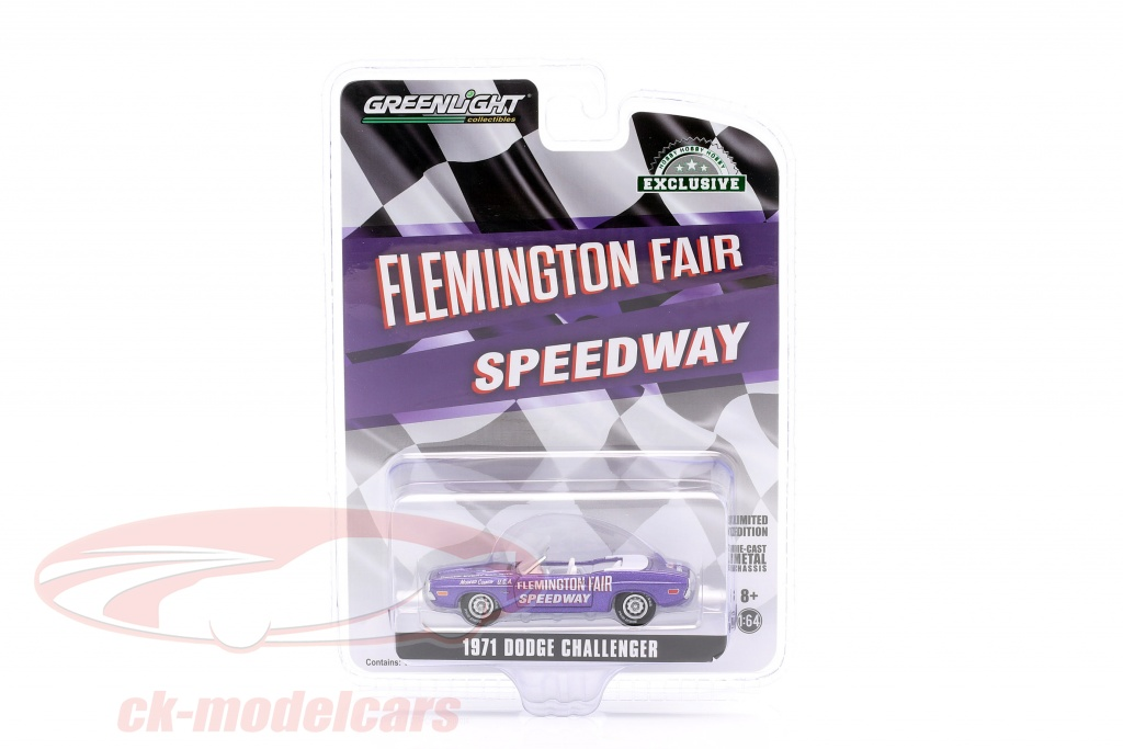 greenlight-1-64-dodge-challenger-convertible-pace-car-flemington-fair-speedway-1971-purple-30146/