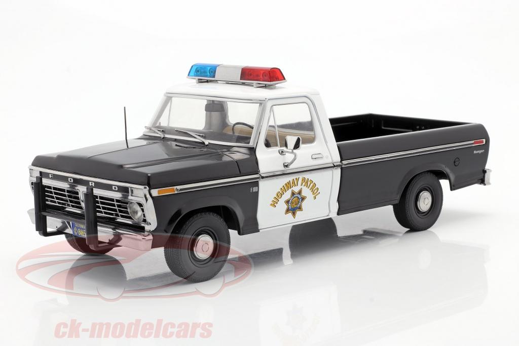 greenlight-1-18-ford-f-100-1975-california-highway-patrol-sort-hvid-13550/