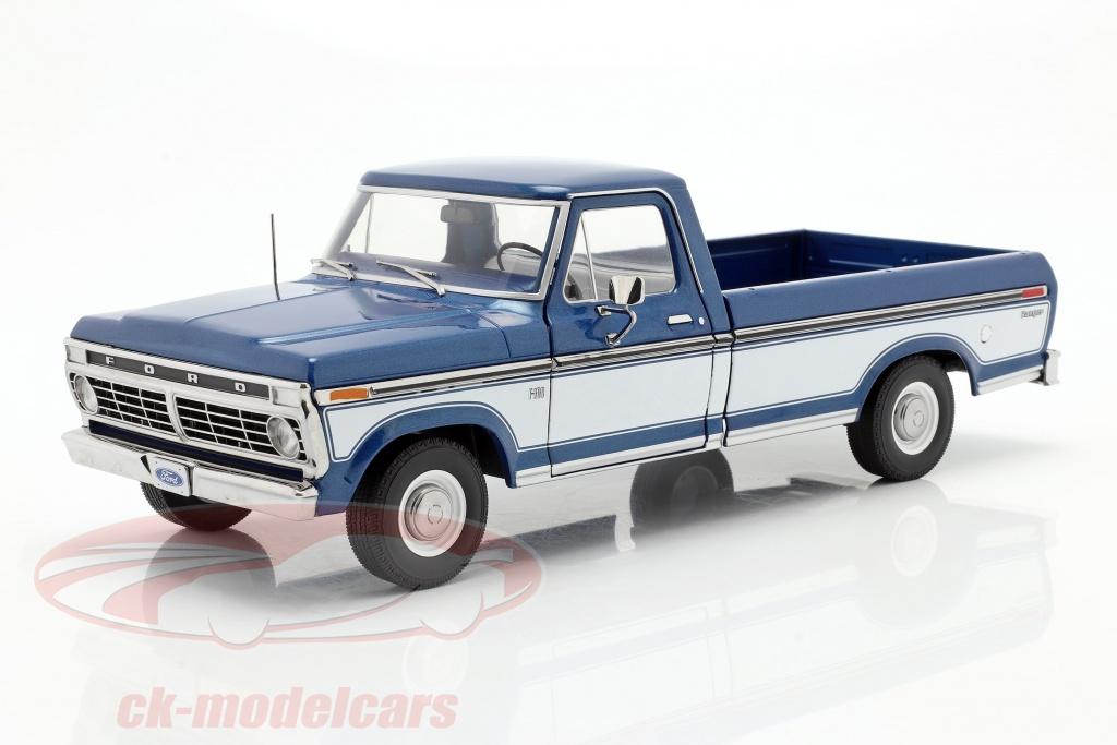 greenlight-1-18-ford-f-100-pick-up-baujahr-1976-mit-abdeckung-blau-weiss-13544/
