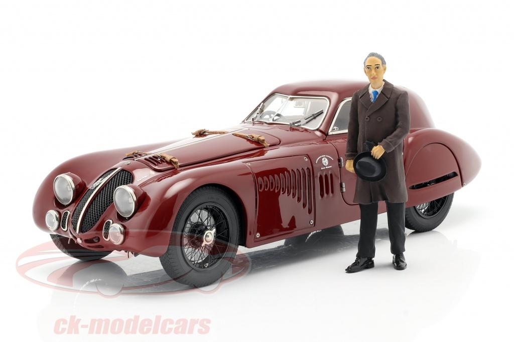 cmc-1-18-diorama-road-service-alfa-romeo-8c-2900b-1938-buio-rosso-con-vetrina-a-017/