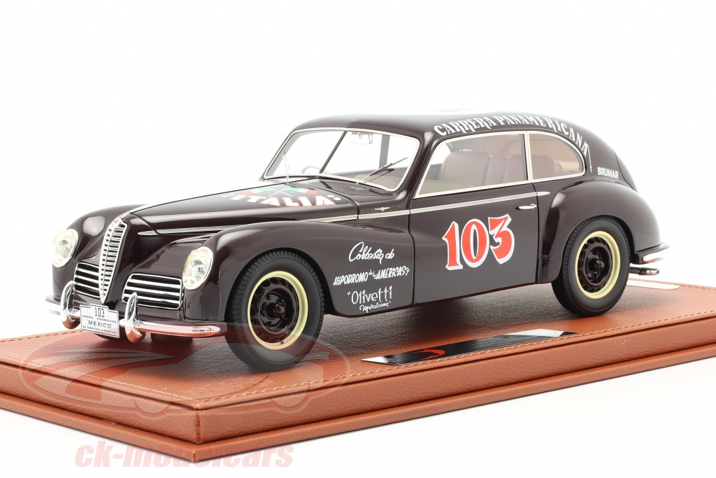 bbr-models-1-18-alfa-romeo-6c-2500-freccia-doro-no103-carrera-panamericana-1950-with-showcase-bbrc1810bv/