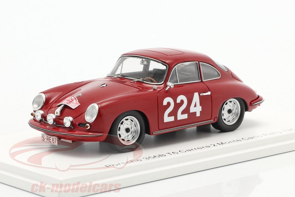 spark-1-43-porsche-356b-t6-carrera-2-no224-rallye-monte-carlo-1964-klass-wencher-s6601/