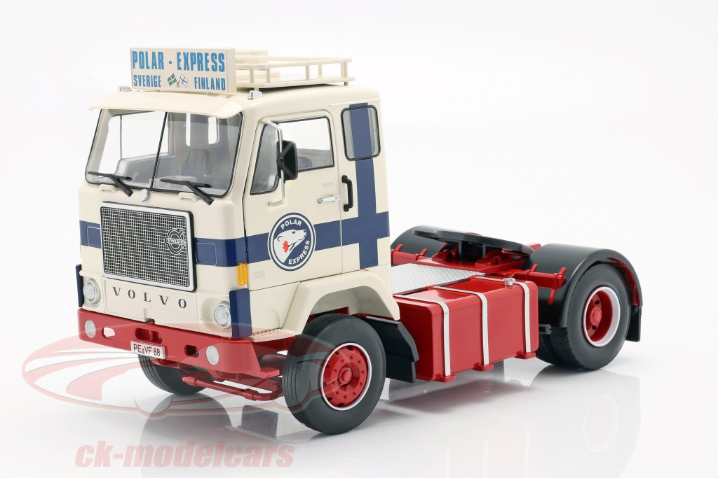 road-kings-1-18-volvo-f88-vrachtauto-polar-express-1965-wit-blauw-rood-rk180063/