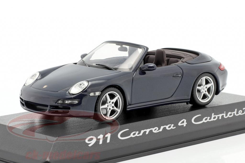 minichamps-1-43-porsche-911-997-carrera-4-cabriolet-2005-azul-escuro-metalico-wap02015216/