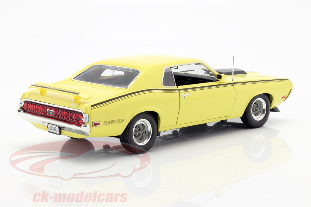 Mercury Cougar Eliminator Coupe 1970 Yellow Black Welly 1:18 WE12520Y Model