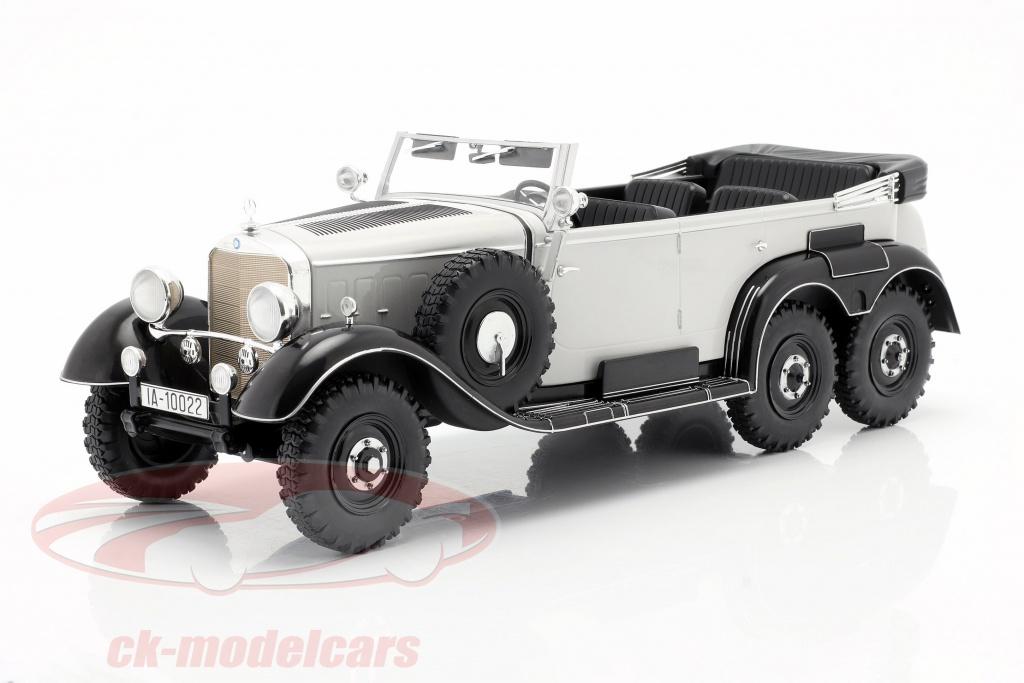 modelcar-group-1-18-mercedes-benz-g4-w31-anno-di-costruzione-1934-1939-grigio-chiaro-mcg18208/