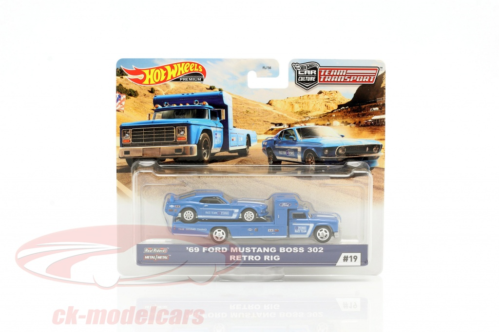 hotwheels-1-64-set-team-transport-ford-mustang-boss-302-1969-retro-rig-gjt38-no19-flf56/