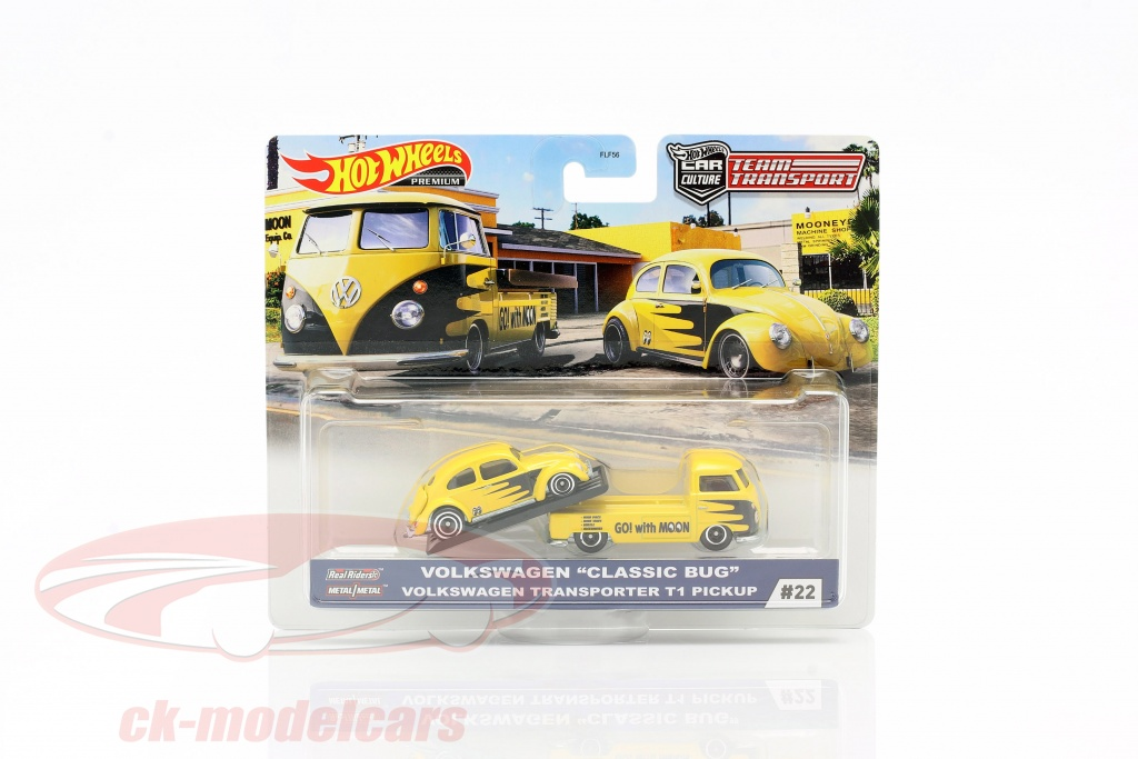 hotwheels-1-64-set-team-transport-volkswagen-vw-classic-bug-transporter-t1-pick-up-gjt42-no22-flf56/