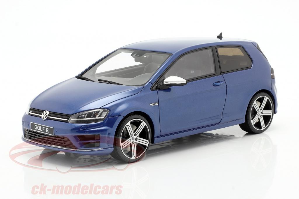 ottomobile-1-18-volkswagen-vw-golf-7r-annee-de-construction-2014-lapiz-bleu-ot333/