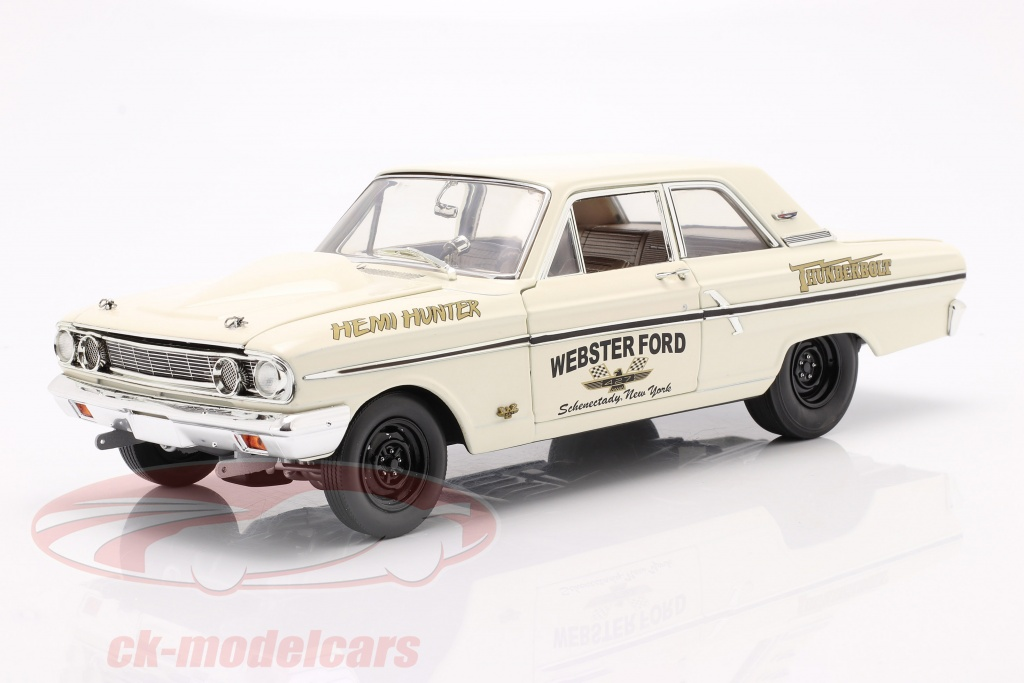 gmp-1-18-ford-thunderbolt-hemi-hunter-1964-room-wit-goud-a1801108/