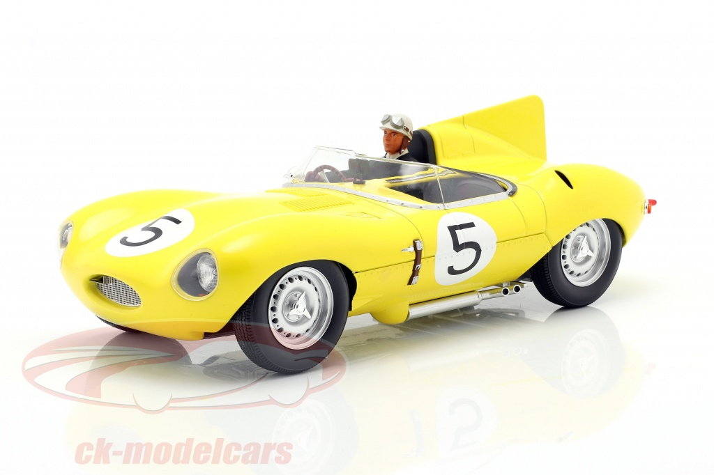 iscale-1-18-set-jaguar-d-type-no5-4th-24h-lemans-1956-mit-fahrerfigur-cmr-cmr143-ae180178/