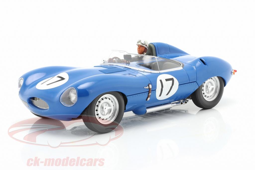 iscale-1-18-set-jaguar-d-type-no17-3e-24h-lemans-1957-avec-figure-de-conducteur-cmr-cmr145-ae180178/
