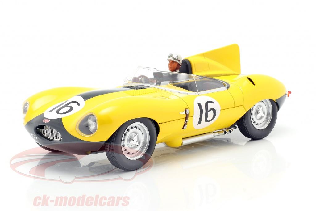 iscale-1-18-set-jaguar-d-type-no16-4e-24h-lemans-1957-met-bestuurdersfiguur-cmr-cmr144-ae180178/