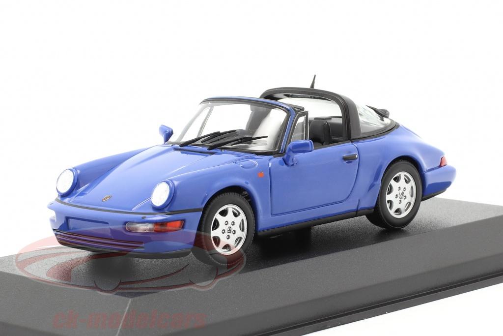 minichamps-1-43-porsche-911-964-carrera-2-targa-1991-blauw-940061360/