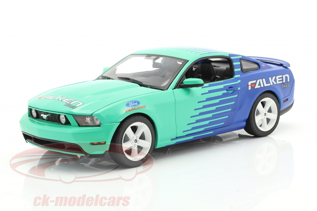 greenlight-1-18-ford-mustang-gt-falken-tires-2010-blau-gruen-13552/