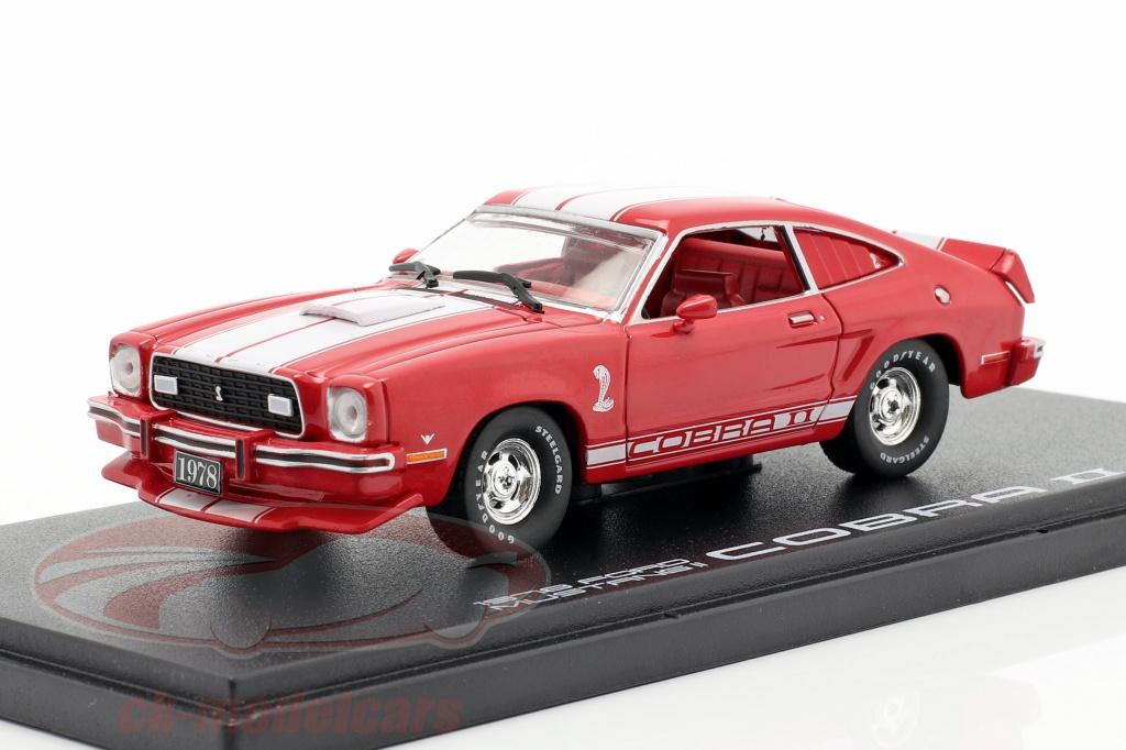 greenlight-1-43-ford-mustang-ii-cobra-ii-anno-di-costruzione-1976-rosso-bianca-86337/
