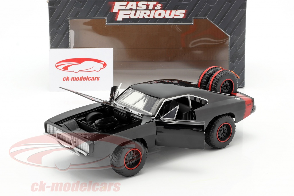 Jadatoys 1 24 Dodge Charger R T Offroad Year 1970 Fast And Furious 7 Black 97038 Model Car 97038 253203011 801310970386 4006333064357