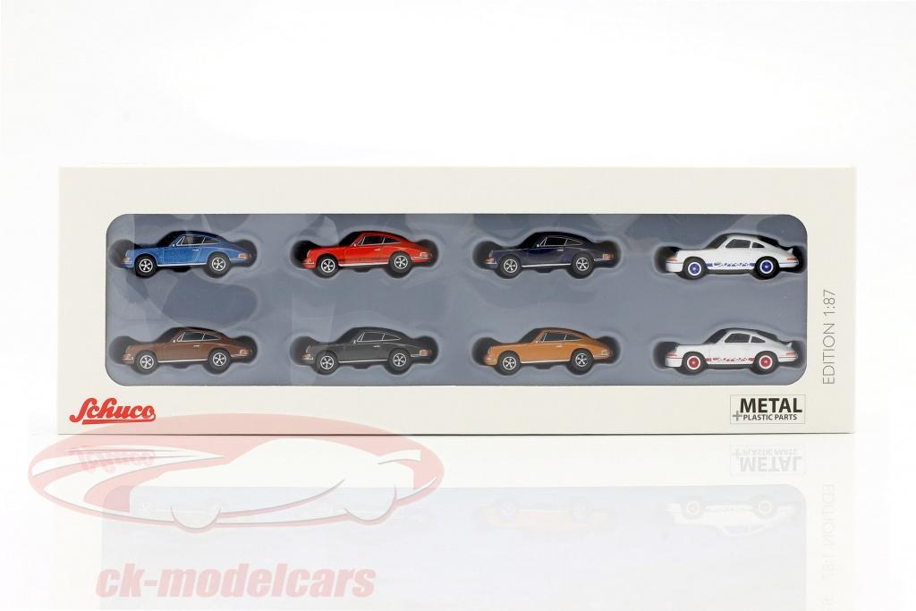 schuco-1-87-8-car-set-porsche-911-452650200/